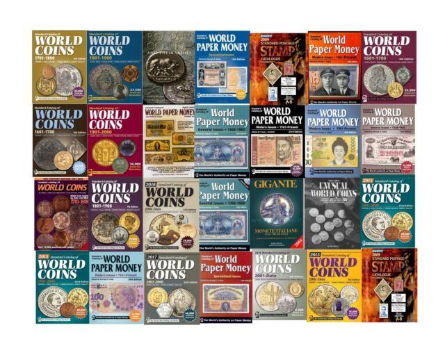 CATALOGO MONETE/BANCONOTE WORLD COINS/PAPER ROMANE STAMP - DIGITALI IN PDF