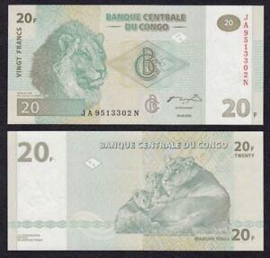 CONGO-20-Francos-2003-SC-UNC-Pick-94-Francs