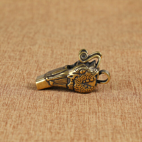 Brass Dragon Head Keychain Pendant Pants Pendant Bag Pendant Car EDC KeyPendant