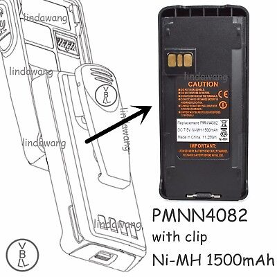 PMNN4082 Ni-MH Battery For MOTOROLA CP1660 CP185 CP476 CP477 EP350 P146 P165