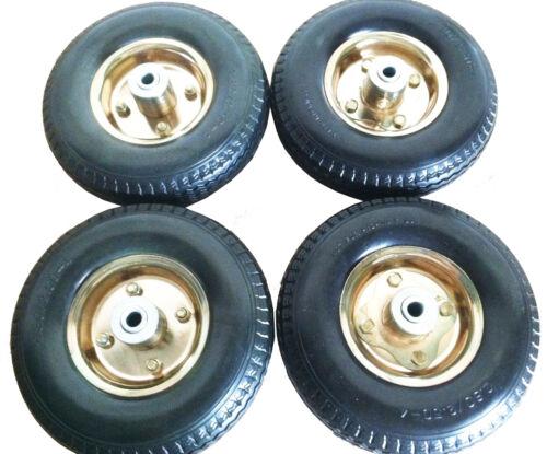 """Brass 8/"""" x 2-1//2/"""" Pneumatic Wheel Form filled - 4 ea"""