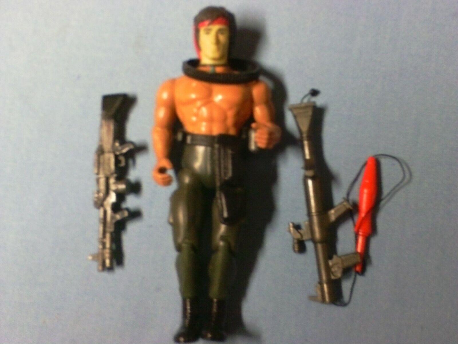 1986 Anabasis Rambo 7  John Rambo Action Figure  LOOSE