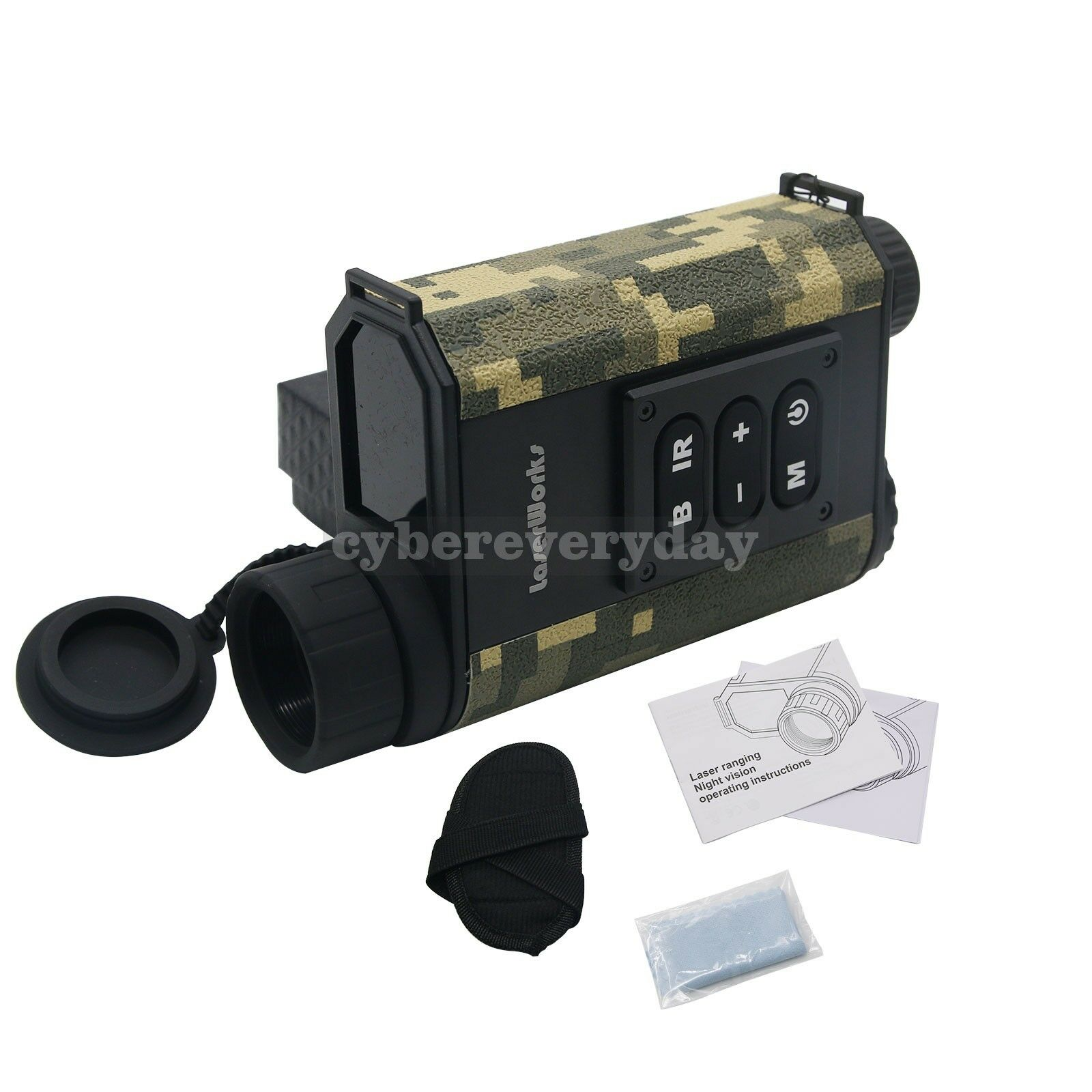 6X Binocular de caza láser telémetro Telescopio digital de visión nocturna IR NV