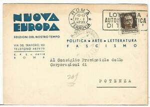 COMMERCIALE-209-ROMA-Politica-Arte-Letteratura-Fascismo-NUOVA-EUROPA-Vg