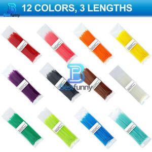 200mm Self-locking Nylon Cable Ties 8inch 100pcs 12 color Plastic Zip Tie 18 lbs