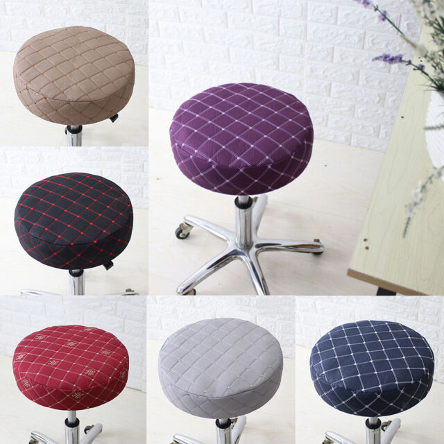 15-16/'/' Bar Stool Covers Round Chair Seat Cover Sleeve Slipcovers Gray