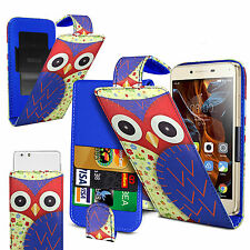 For Gigabyte GSmart G1355 -  (Owl) Clip On PU Leather Flip Case Cover