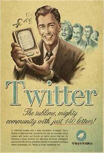Publicite-Twitter-Hommes-Portable-Panneau-Metallique-Plaque-Voute-Etain-Signer