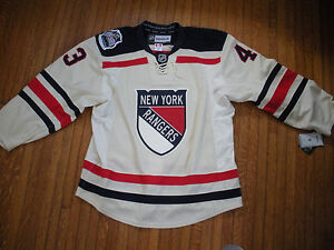 check out d7eb8 0b61f Details about Martin Biron NY New York Rangers 2012 Winter Classic Jersey -  Goalie Authentic