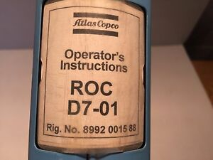 atlas copco roc d7 01 hydraulic drill maintenance operators rh ebay com Atlas Copco Logo Atlas Copco Drill Rigs