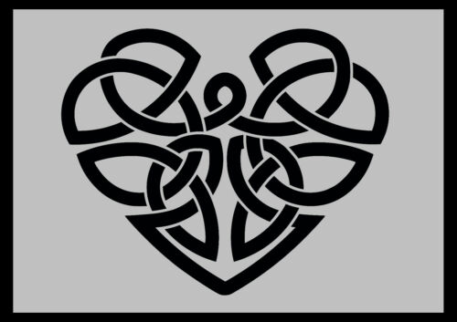 Celtic Heart Stencil 190 micron Mylar
