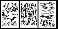 3pack Spray Paint Camouflage Stencils 14 - Digicam Tree Bark Tiger Stripe Camo