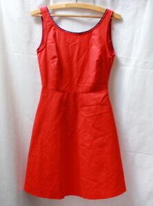 Robe Trapeze Rouge Style Retro Zara T 34 Ebay