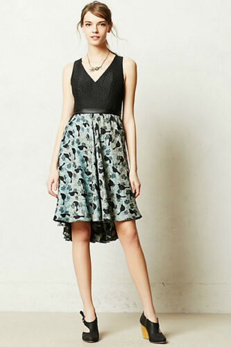 NEW sz 8P Anthropologie Merle Dress By Black Halo Made in Kind Mixed textures