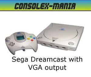 Sega-Dreamcast-with-VGA-Output-Region-Free-BIOS-90-Day-Warranty-FREE-P-P