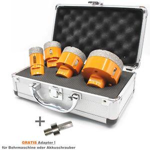 Set-4-teilig-Diamant-Fliesenbohrkronen-Fliesenbohrer-im-Alukoffer-M14-Adapter