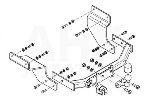 Für Ford Transit Connect 03-08 Anhängerkupplung starr+E-Satz 7p