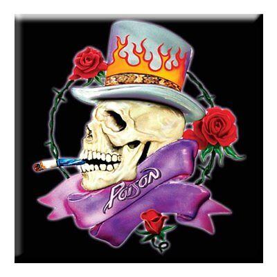 Coraggioso Poison Fridge Magnet Calamita Skull Official Merchandise Modellazione Duratura