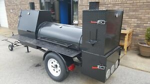 Night-HOG-Mini-HogZilla-Mobile-BBQ-24-Grill-Barrel-Smoker-Trailer-Food-Truck