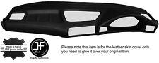 BLACK STITCH TOP DASH DASHBOARD LEATHER SKIN COVER FITS BMW 5 SERIES E34 84-97