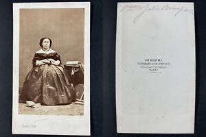 Disdéri, Paris, Princesse Julie Bonaparte Vintage cdv albumen print.Julie Char