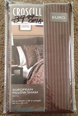 "CROSCILL CONFESSIONS EURO  PILLOW SHAM NIP 26/""X26/"" NEW"