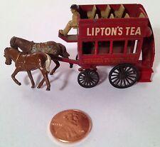 Matchbox Lesney Lipton's Tea Omnibus No. 12 Dark Brown Horses - Vintage
