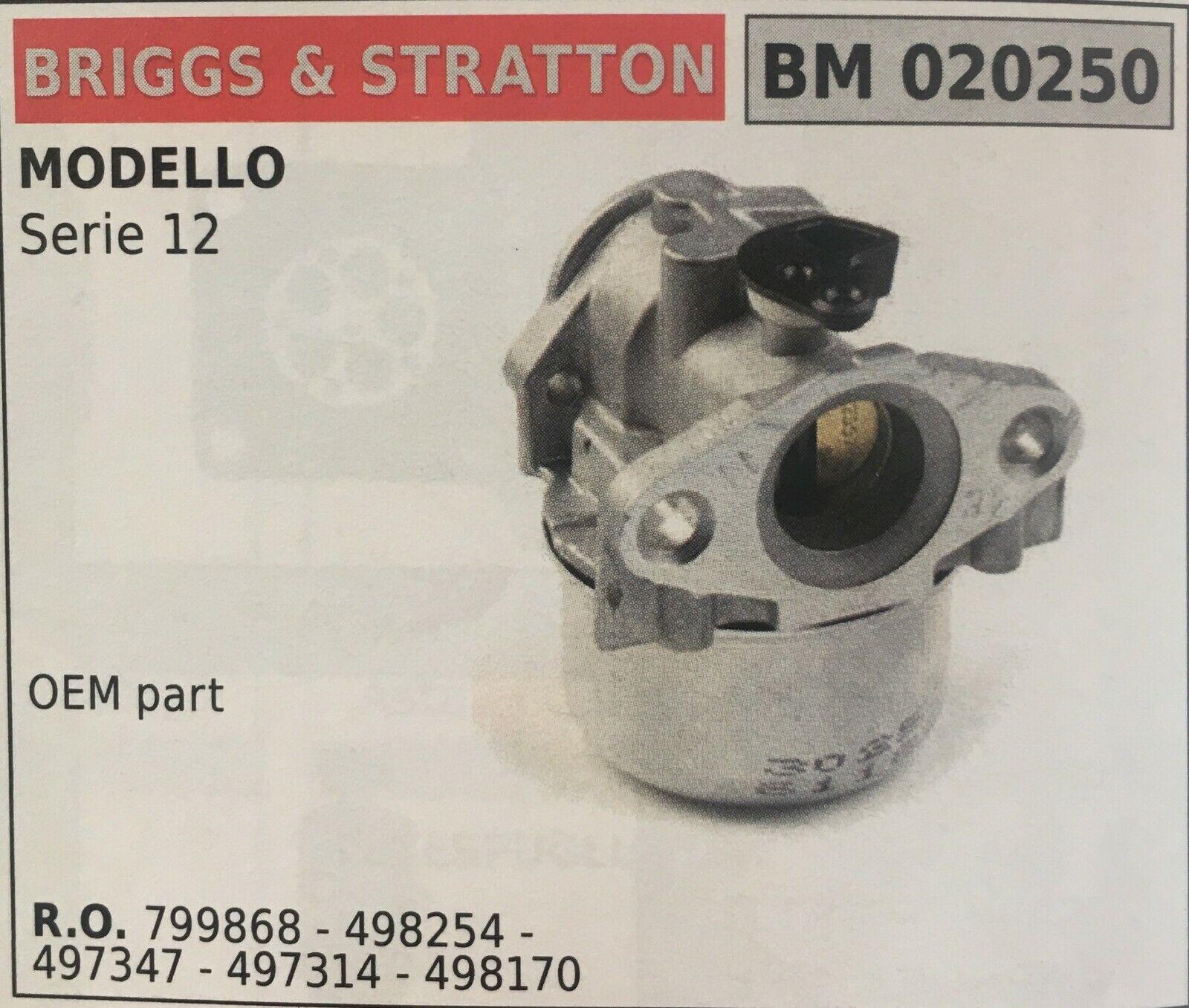 CocheBURATORE A VASCHETTA BRUMAR BRIGGS&STRATTON BM020250 MODELLO Serie 12