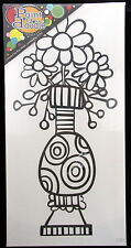 Paint A Doodle 12 in X 24 in Canvas Kit With Paint and Brushes Vase of Flowers