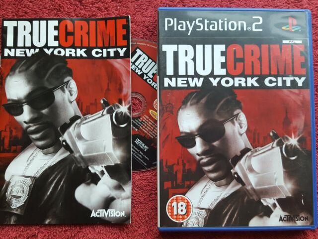 Crimen verdadero ciudad de Nueva York Original Etiqueta Negra Sony Playstation 2 PS2 PAL