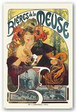 "Alphonse Mucha art poster 24x36"" Bieres de la Meuse"