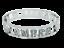 miniatuur 25 - Bracciale da donna in acciaio inox rigido a manetta con nome in zirconi bianchi