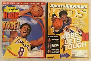 Kobe-Bryant-1999-2002-Sports-Illustrated-SI-for-Kids-Magazines-w-Posters-amp-Cards