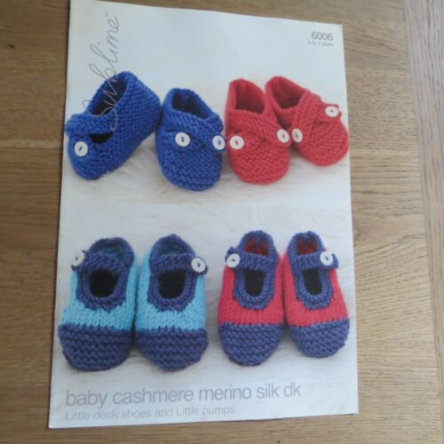 6006 Pattern No Deck Shoes /& Pumps Sublime Baby Cashmere Merino Silk DK