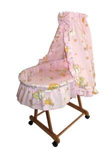 baby stubenwagen babykorb bettw sche eu produkt neu sternwolke rosa ebay. Black Bedroom Furniture Sets. Home Design Ideas