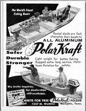 1960 Print Ad Polar-Kraft All Aluminum Boats Memphis,TN