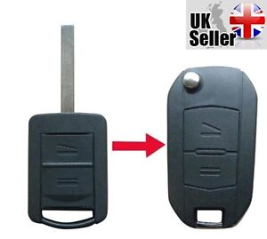 New-Vauxhall-Corsa-Meriva-Combo-Opel-2-Button-Remote-Key-Fob-Case-034-WITH-LOGO-034