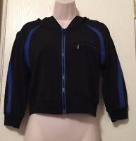 Bebe Ph8 Hoodie Black And Blue Athletic Jacket $69 Retail Juniors Small