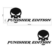 The Punisher Edition Skull Decals Stickers Vinyl Cut Text Decal 143x5in