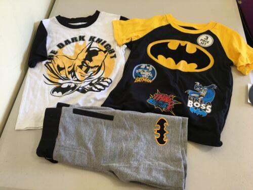 Batman 3 Pc Shorts Set Dc Comics Boys NEW