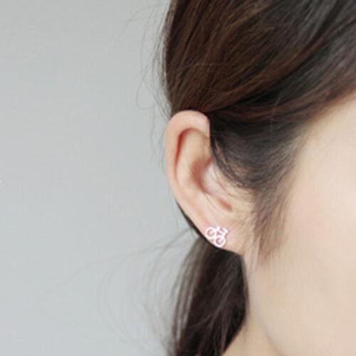 Metal Mini Bicycle Earrings Cute Women Girl Fashion Stud Best Gift for  her