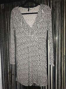 352ea72303 Dalmatian Print Vintage Style Tea Dress Spring Long Sleeve Skater ...