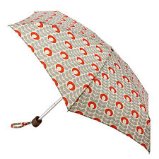 Orla Kiely by Fulton Tiny Umbrella - Flower Oval Stem Tomato & Light Granite
