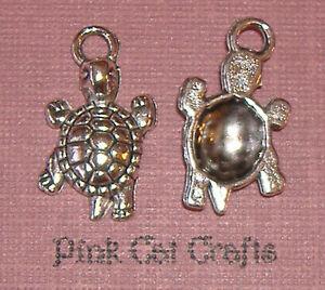 Pack of 10 Tibetan Silver Turtle Tortoise charm Pendant Terrapin Sealife