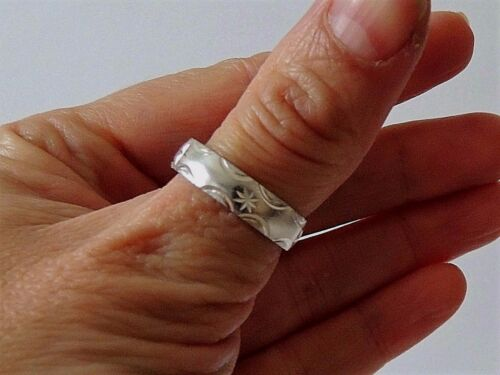 925 STERLING SILVER BAND RING size L W everyday wear W1//2 R1//2 Y S