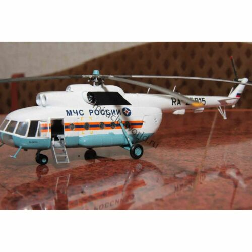 """russian search-rescue helicopter// 1//72 Zvezda 7254 Mil Mi-8 Hip /""""MChS/"""" //soviet"""