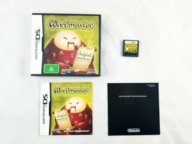 Wordmaster Nintendo DS  Game with Manual *Complete*