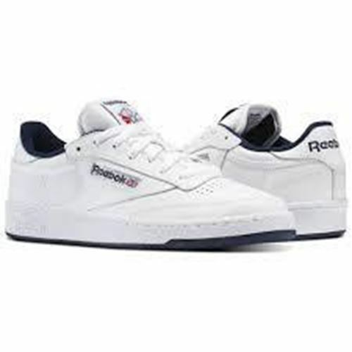 Reebok Club C 85 Men's Size White Navy AR0457 Running Shoes