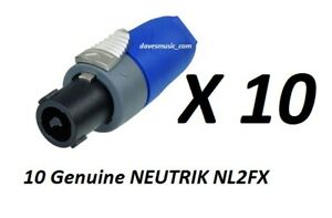 10-Pack-NEUTRIK-speakOn-NL2FX-2-Pole-Inline-Female-Locking-Speaker-Connector
