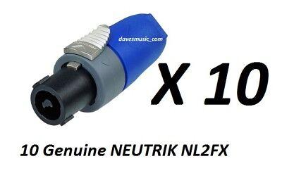 4 Genuine Neutrik SpeakOn NL2FX 2 Pole Inline Female Locking Speaker Connector